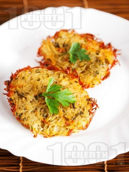 Картофени рьощи на фурна (гарнитура за месо и риба) - снимка на рецептата